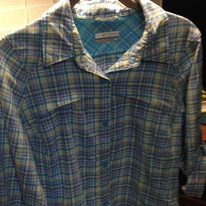 Columbia Tops - COLUMBIA Omni shade sun 30 ls/tab outdoor shirt